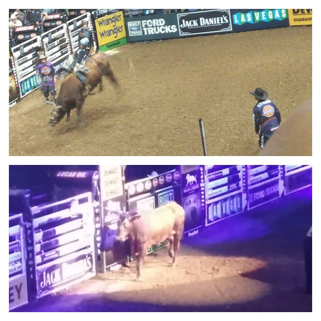 Cody Nance was matched up against PBR World Champion Bucking Bull Bushwacker and only lasted for 4.88 seconds!