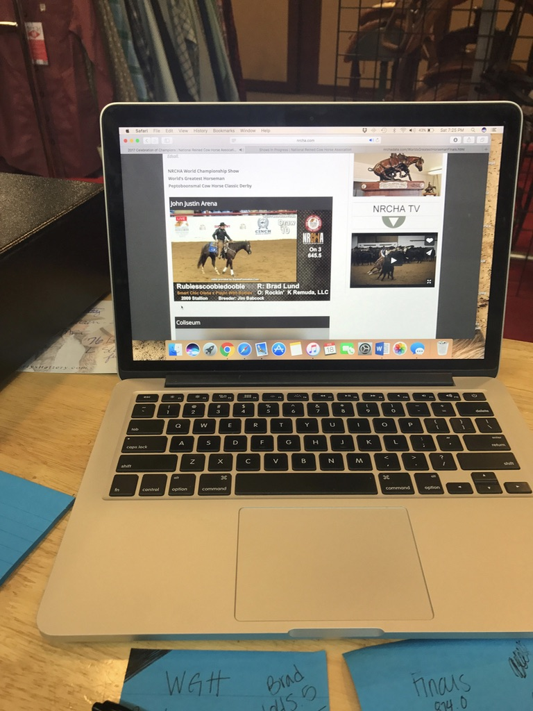 Even though I was stuck at work I managed to glue myself to the computer for the cow work finals!