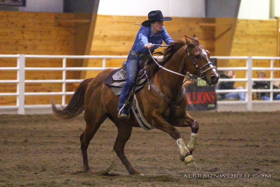 Running a borrowed horse in Winona, MN while mine were injured