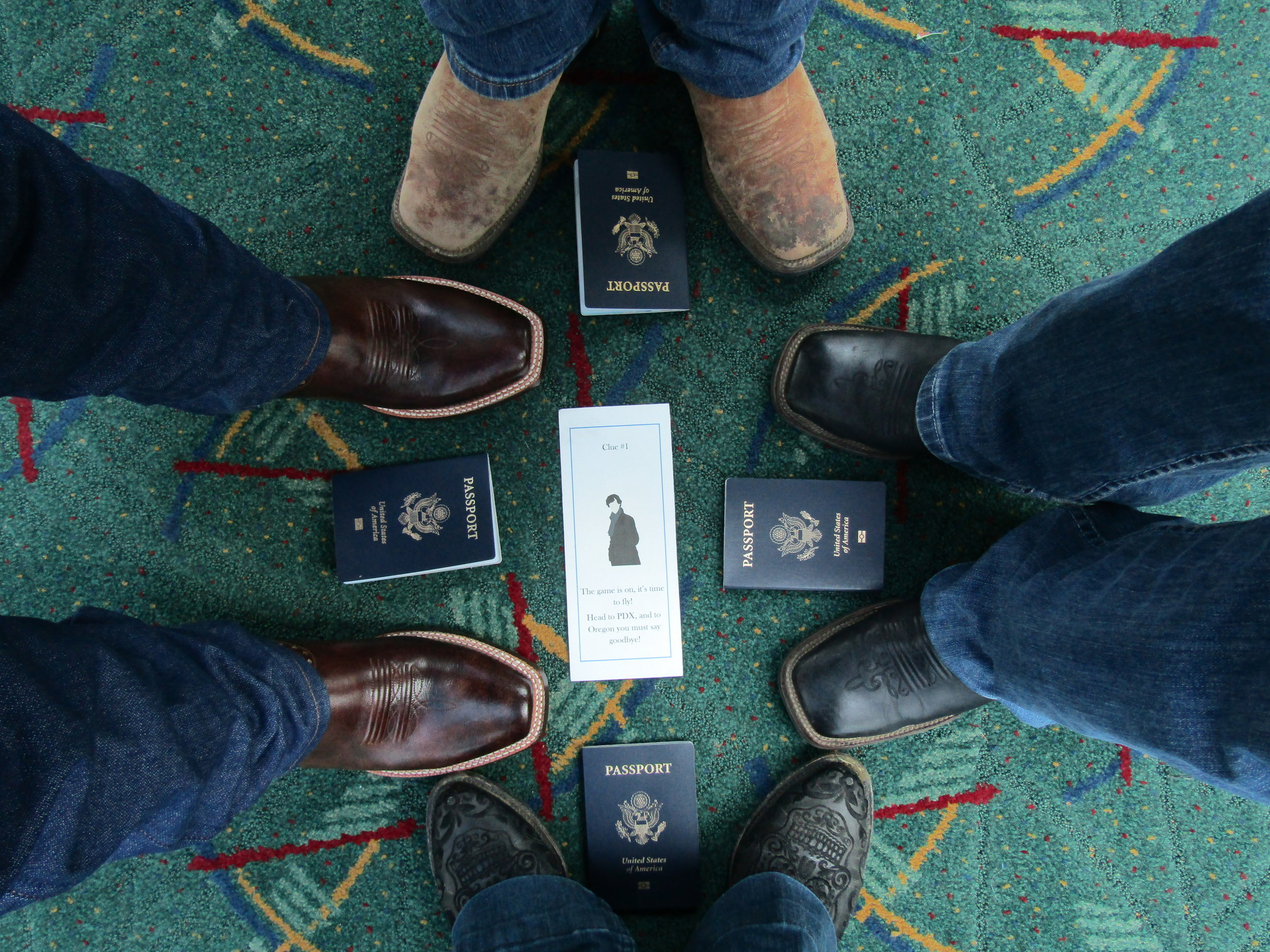 It is customary in the pacific northwest that anytime you step foot in the Portland Airport (PDX) you take a picture with your feet on the carpet. It's kind of a thing of legend here with it even being the Grand Marshall of a parade once! Rocking the  Lola's  and excited to go!