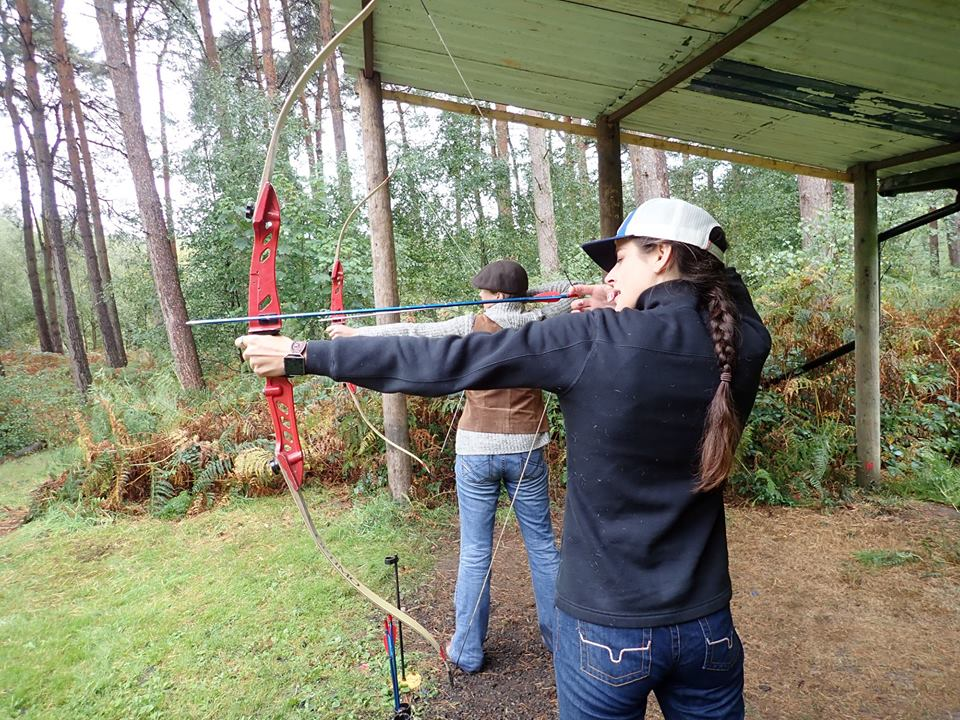 I was really excited to shoot archery for the first time ever and I think I would have made Robin Hood proud, winning our archery contest for the day! Wearing my  Francesca's.
