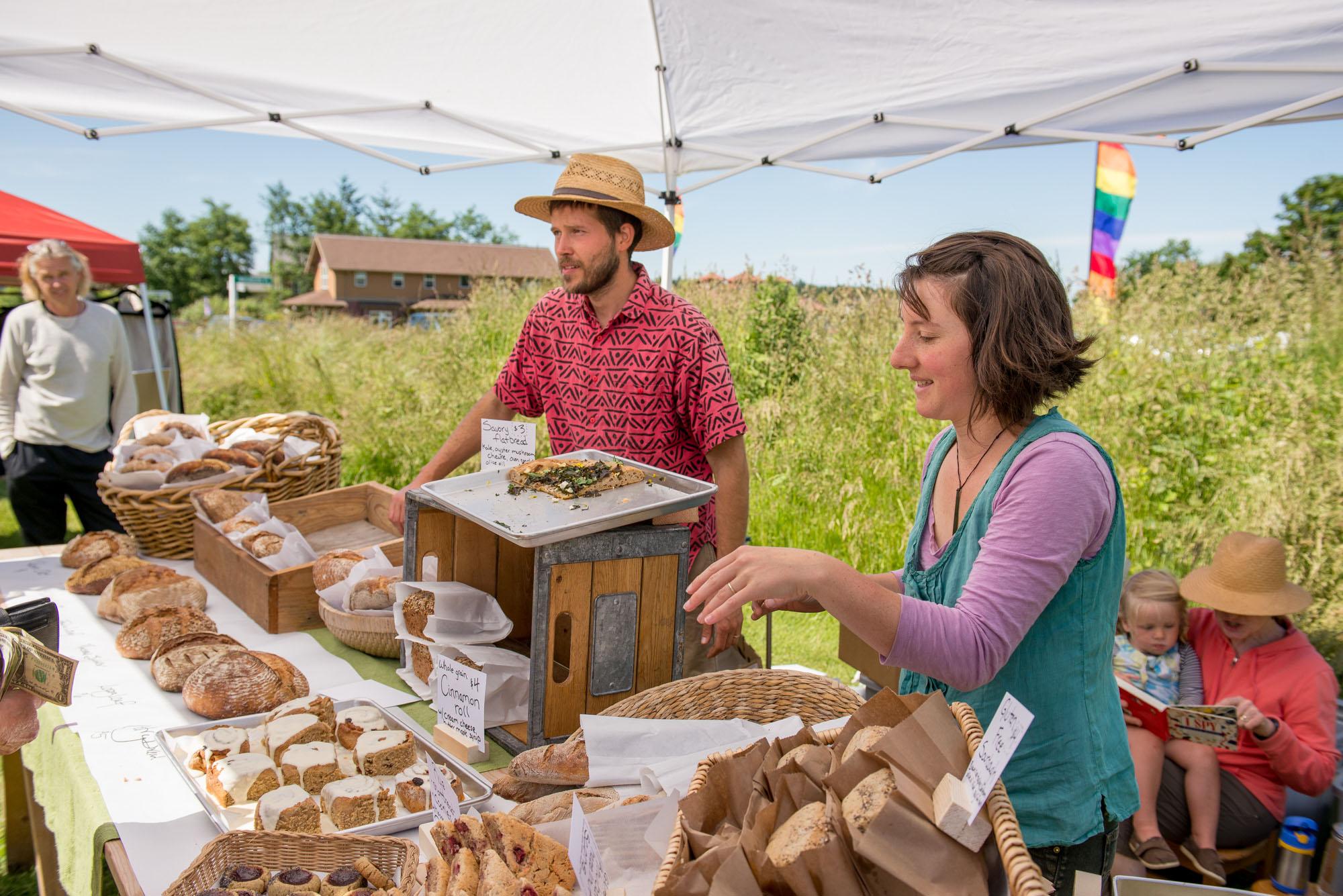 Barn Owl Bread at the Sat. Market