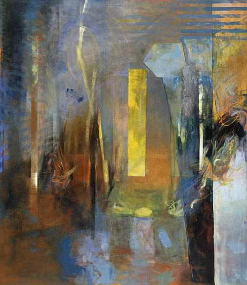 "Mind a Place of Memory, 1987, Oil on Canvas, 78"" x 68"""