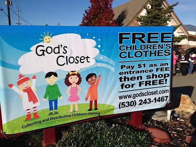 Street Sign for God's Closet Event