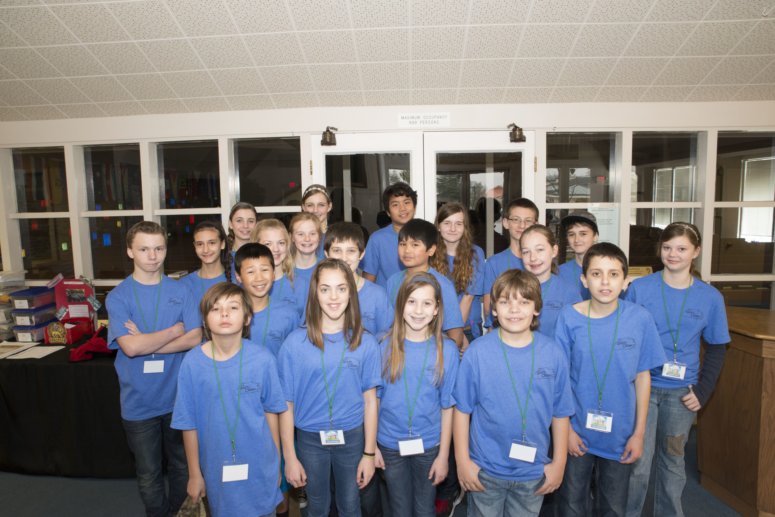 Thank you for your help, Redding Adventist Academy students!