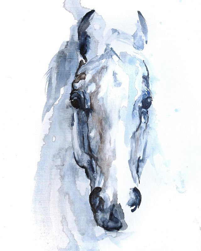 The look your horse gives when... ⠀ ⠀ ⠀ ⠀ ⠀ ⠀ #horse#art#painting#artistofinstagram#boiseartist#look#interiordecor#interiordesignart#designer#equine#equestrian#equestrianart#eventing#dressagehorse