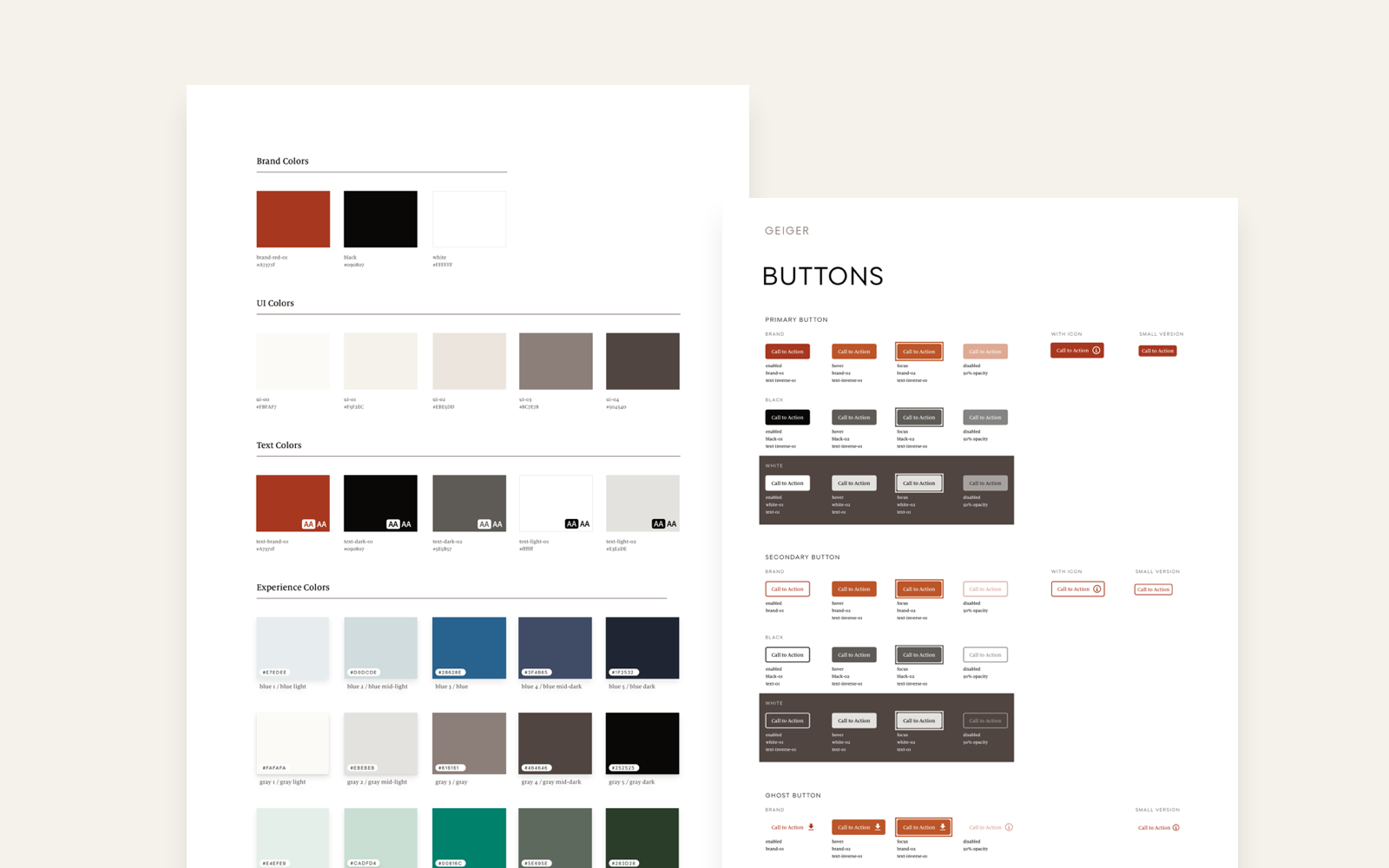 Style Guide - We created a Geiger specific style guide derived from the Herman Miller Design System and executed on the shared AEM platform for Herman Miller and Geiger.