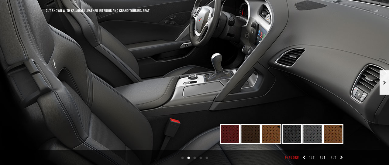 Mockup of the interior with color options to customize.