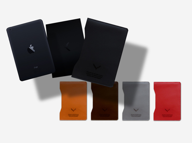 Welcome kit leather sleeve, book, ipad, and sleeve color options to match your purchased vehicle.