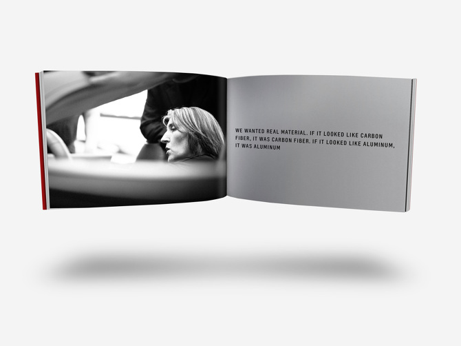Example welcome kit spread with designer image and quote.