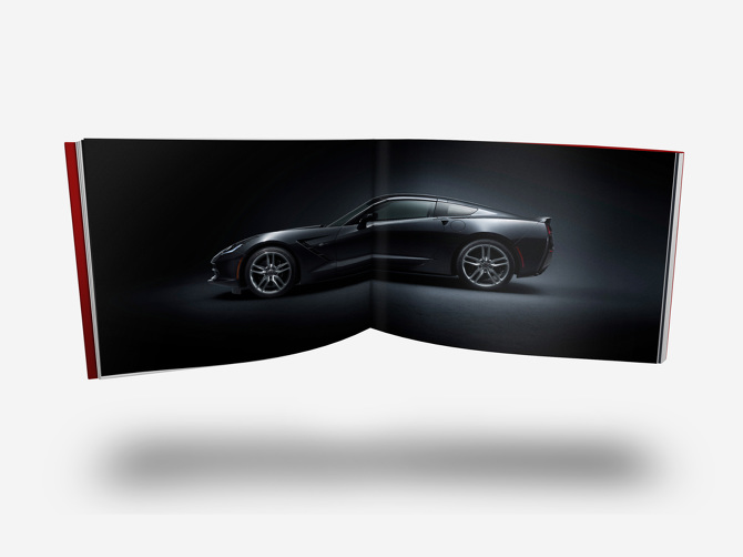 Example welcome kit spread with vehicle profile photography.