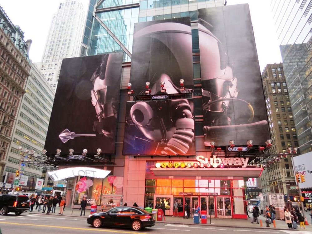 Times Square billboard takeover.