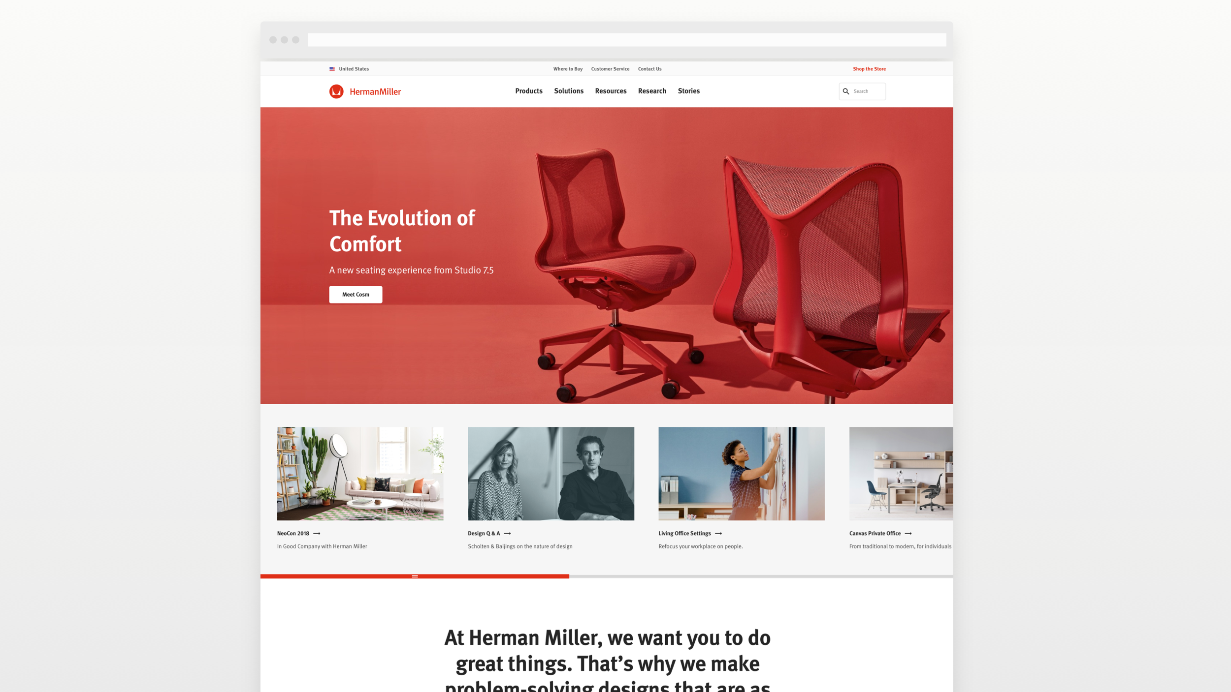 Homepage example with main navigation, masthead, and feature page slider.