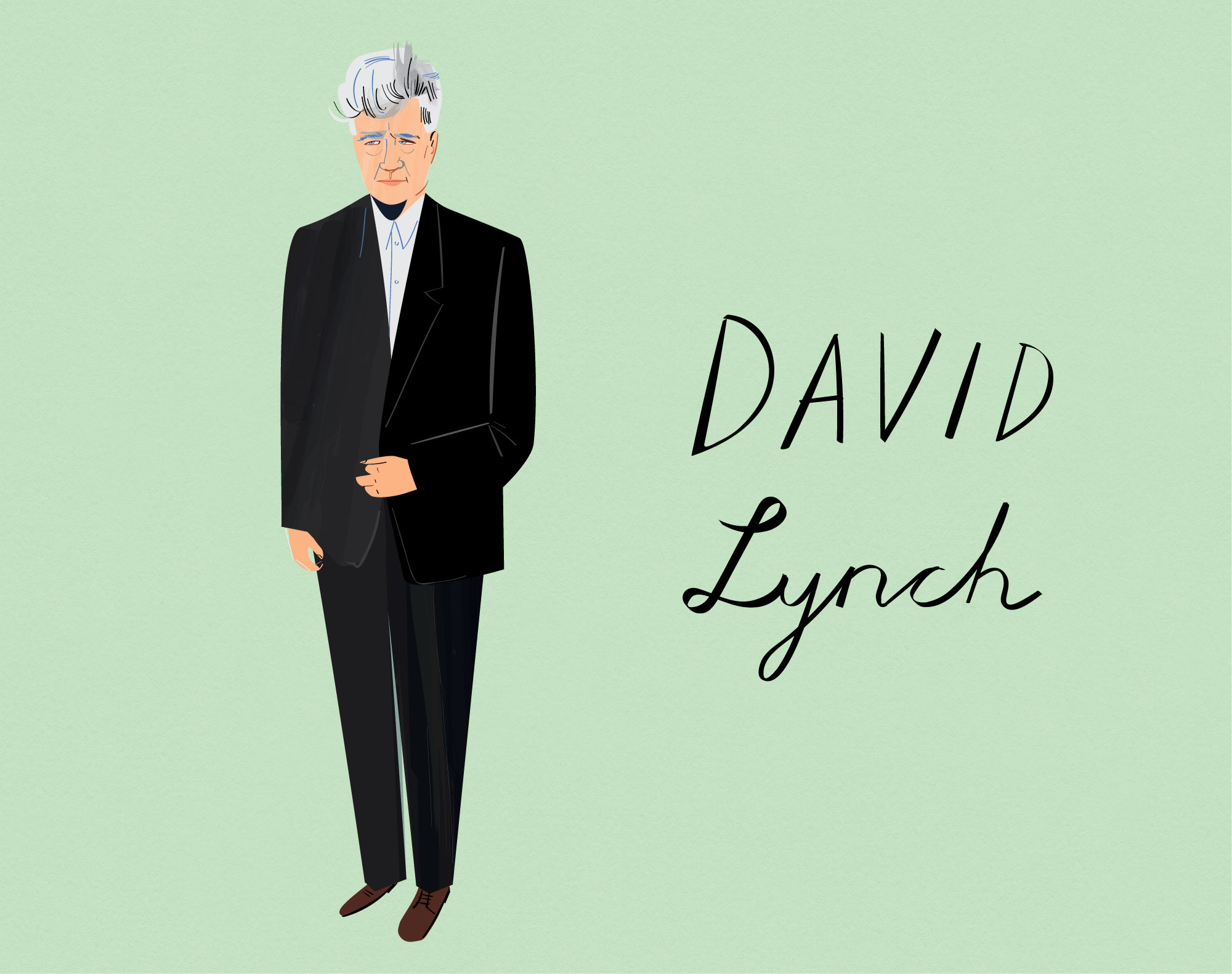 David Lynch,one of the featured style icons in  Man Made