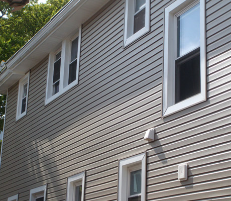 Dutch Lap siding with Window Trim