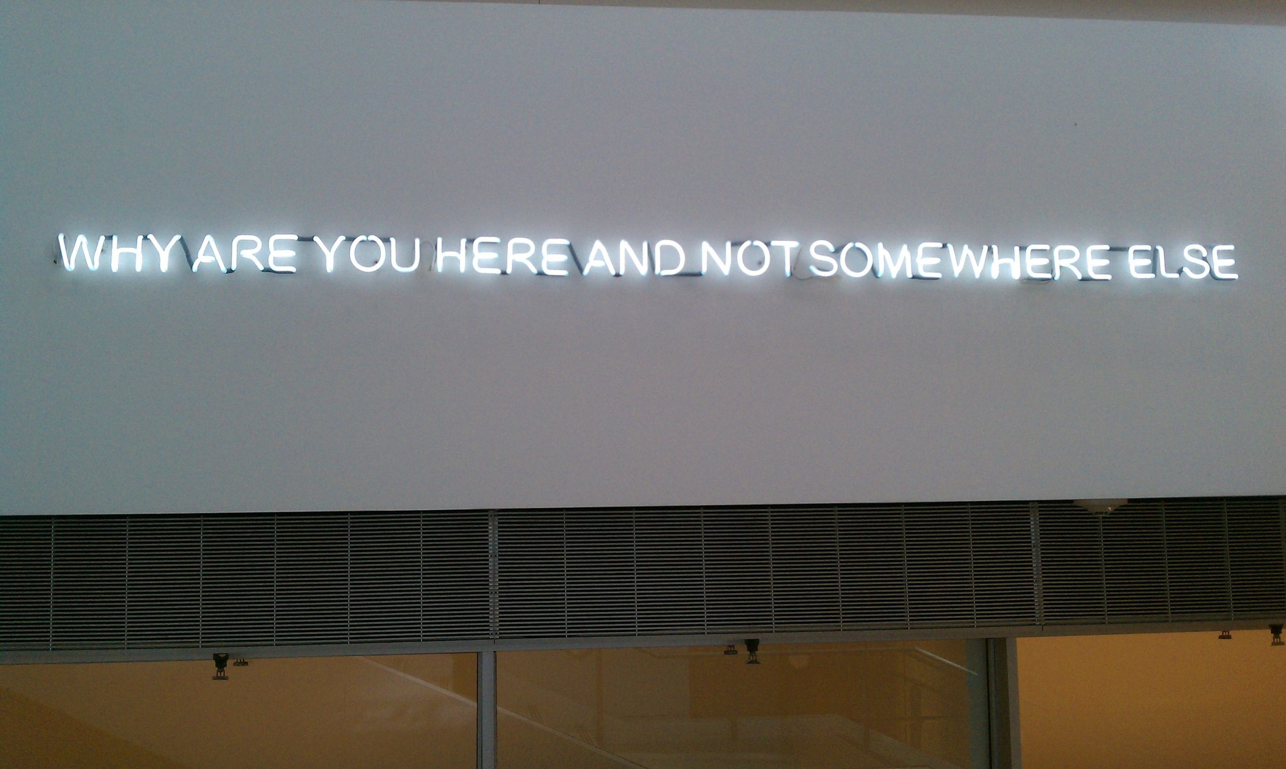 """""""Why are you here and not somewhere else"""" by Quinn Dombrowski under CC BY-SA 2.0"""