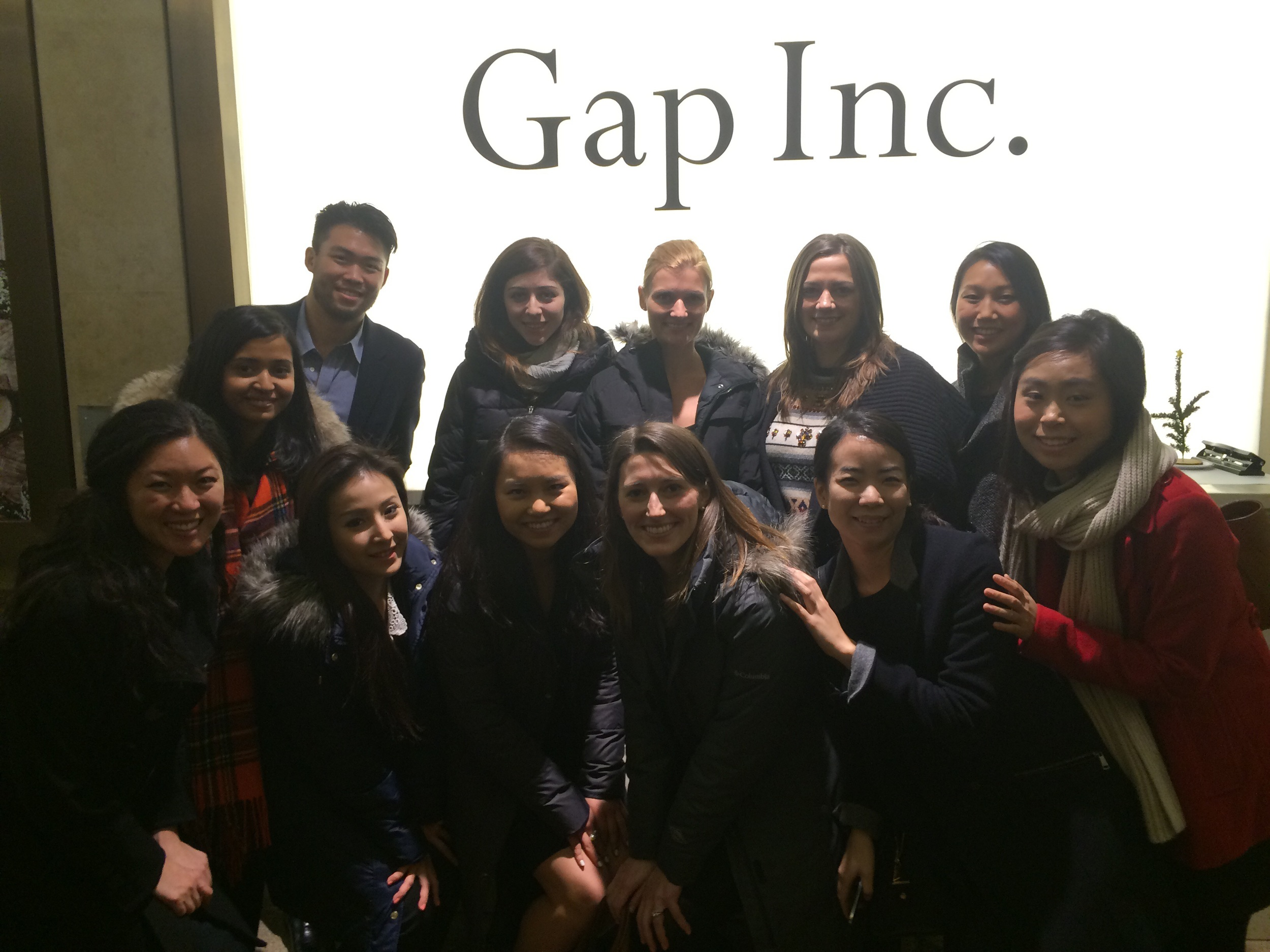 @ Gap (from L to R) Back Row - Patrick Yan, Emma Rotenberg, Julie Hasiba, Sarah Jahnke, Sally Yoon. Front Row -  Andi Hadisutjipto, Faria Jabbar, Irene Tsai, Mary Yang, Insley Haynes, Mina Kim, Sana Suh.