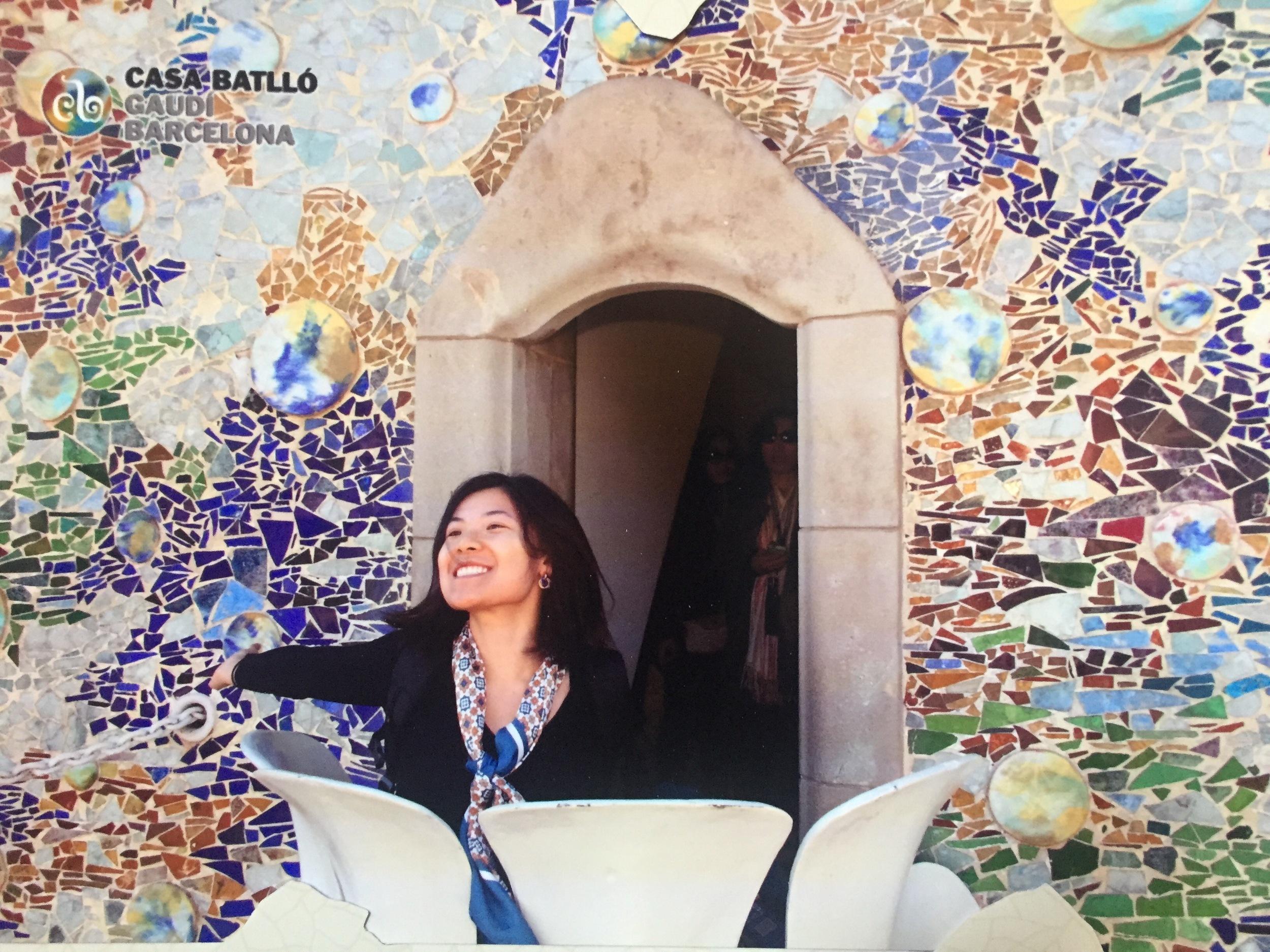 Rebecca Chen Ruan '15 in Barcelona