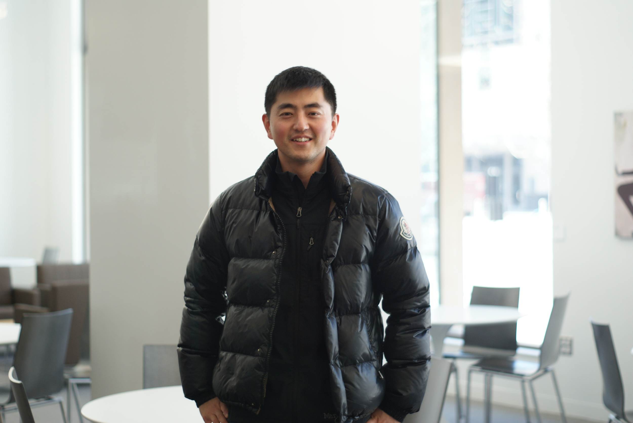 """Junmo Kim '16       """"I want to say sorry and thanks to my wife. Before b-school, even when I was working full-time, I never had this conflict of role as a career driven individual, a husband and a father of three boys. I was called a """"superdad"""" for always balancing out my work and family. But last month, an hour before my meeting with a recruiter in NYC, my wife called me and told me she was sick. Knowing that she rarely expresses her sickness, I immediately wanted to cancel the meeting and get back to Chicago but she convinced me to stay for the meeting. So I flew out next morning on the earliest flight and took her to hospital. She got well soon but never had a chance to say how sorry and thankful I am for having her as my wife."""""""