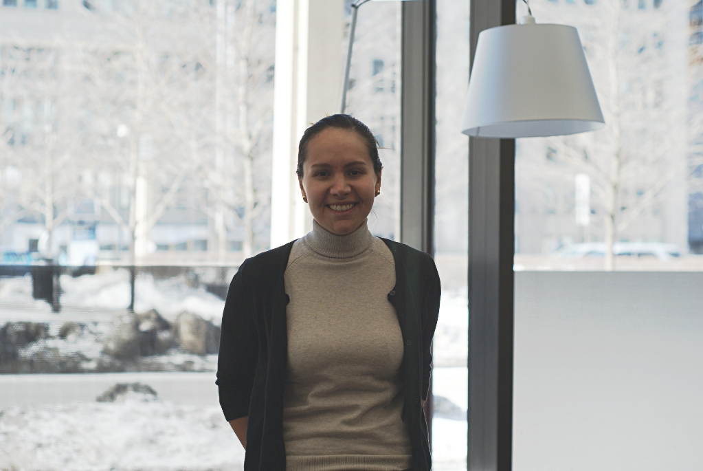"""Maria Ortiz Gomez '15       """"Because we have so little time left, and the weather has been so terrible, I am just not so motivated to go to a boring class. But I do feel that I need to recover my investment so I force myself to go to all my classes. And I get bored in class."""""""