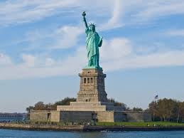 """Lady Liberty standing tall, an unlikely recipient of the question of where she's """"really"""" from. Image courtesy: Wikipedia Commons."""