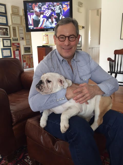 Prof. Scott Meadow and his dog.