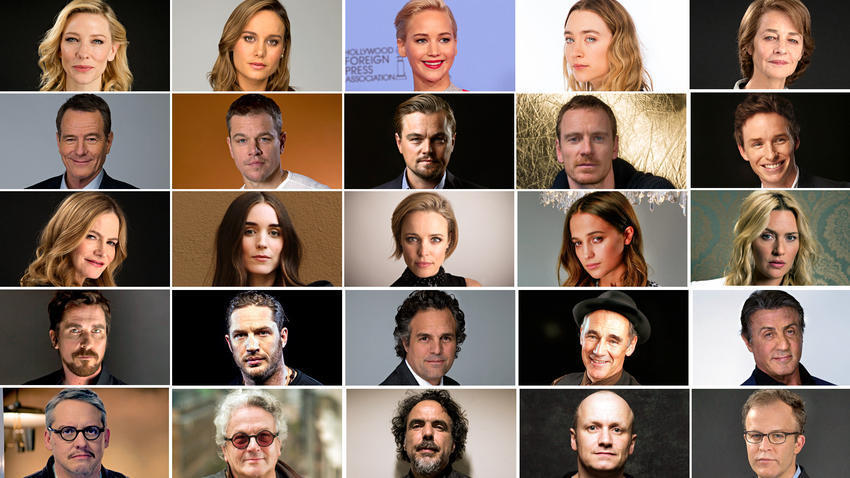 2016 Academy Award nominees for acting and directing, courtesy of the LA Times