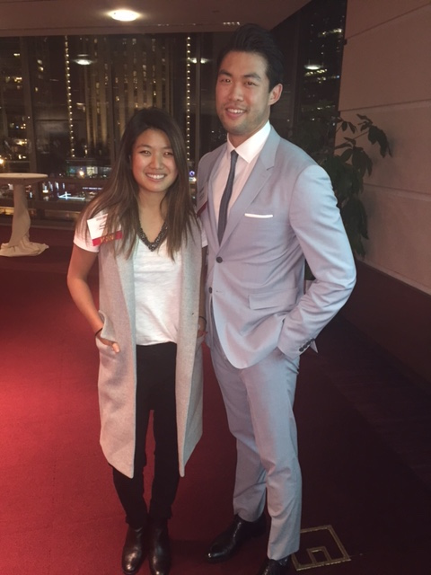 Retail and Luxury Group Co-chairs Anna Pon '17 and Patrick Yan 16' looking stylish at the 1st Annual Fashion Forward Conference