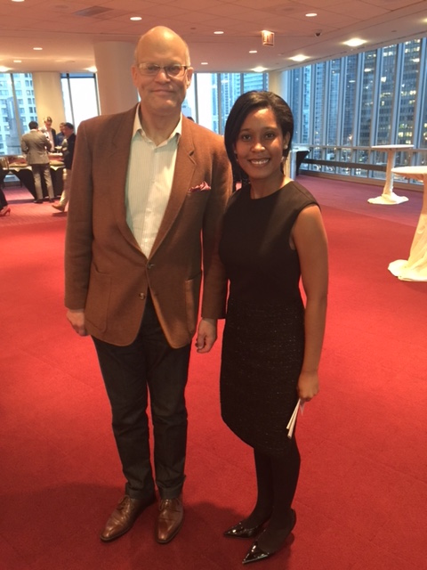 Steven Fischer, Founder of Fischer Voyage,and RAL Co-Chair Kamaria Campbell 17'