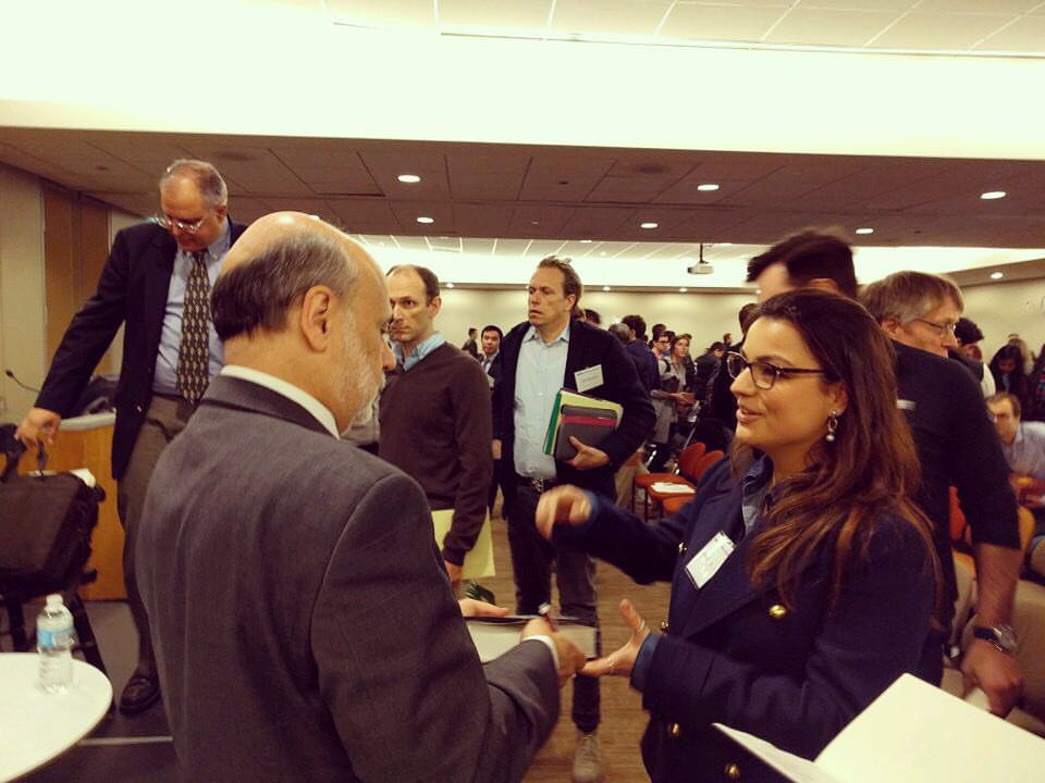 "Awestruck Boothie, Aline Camargo, gathers ""courage to act"" on Ben Bernanke's (now common) presence at Booth Campus!"