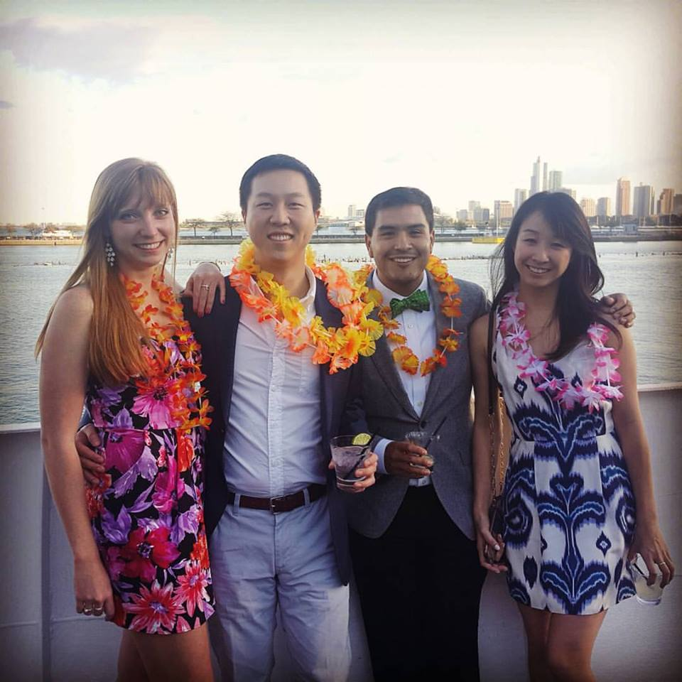 Alex Sukhareva, Lex Zhao, Jose Perez and Justine Jang bring the floral theme to life during Spring Fling!