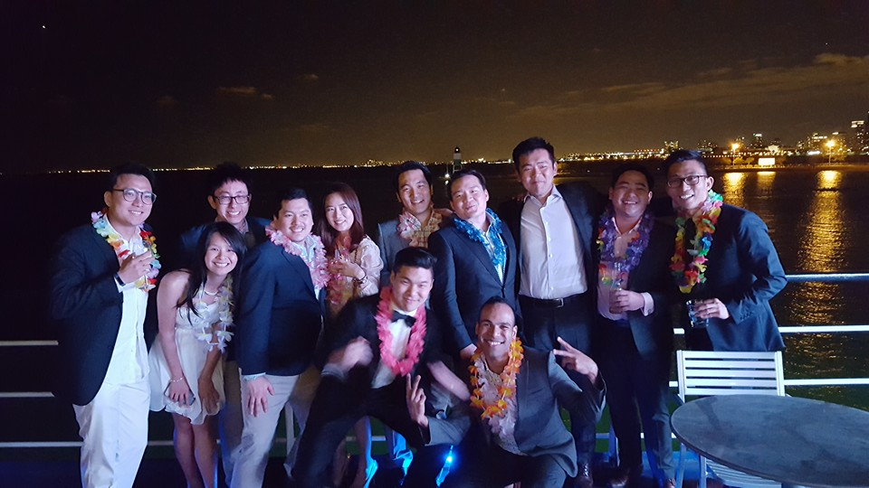 Boothies decide to celebrate spring in style- on a boat with colorful attires!