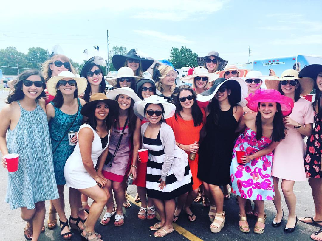 """Boothies took over Derby last weekend, with Booth Ladies putting their best """"hat"""" forward!"""