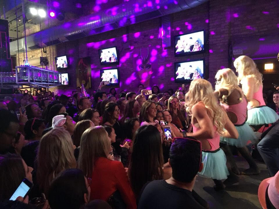 Over 300 Chicago Booth students showed their support for the student drag performers at OUTreach's annual #PinkParty hosted at Sidetrack Video Bar in Boystown on Saturday night.