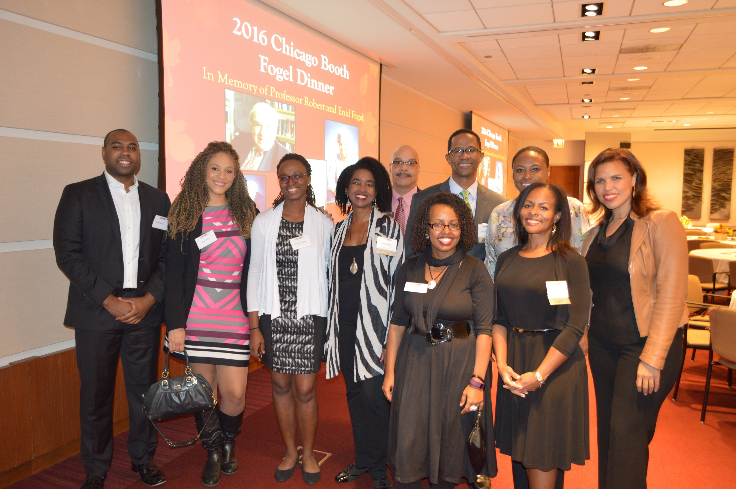 Booth alum and current students came together for a night of celebrating diversity and inclusion during the Fogel Dinner