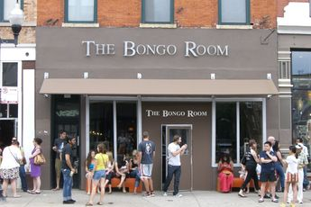 Hipsters wait or a Sunday brunch seat at Bongo Room.  Photo courtesy of Party Earth.
