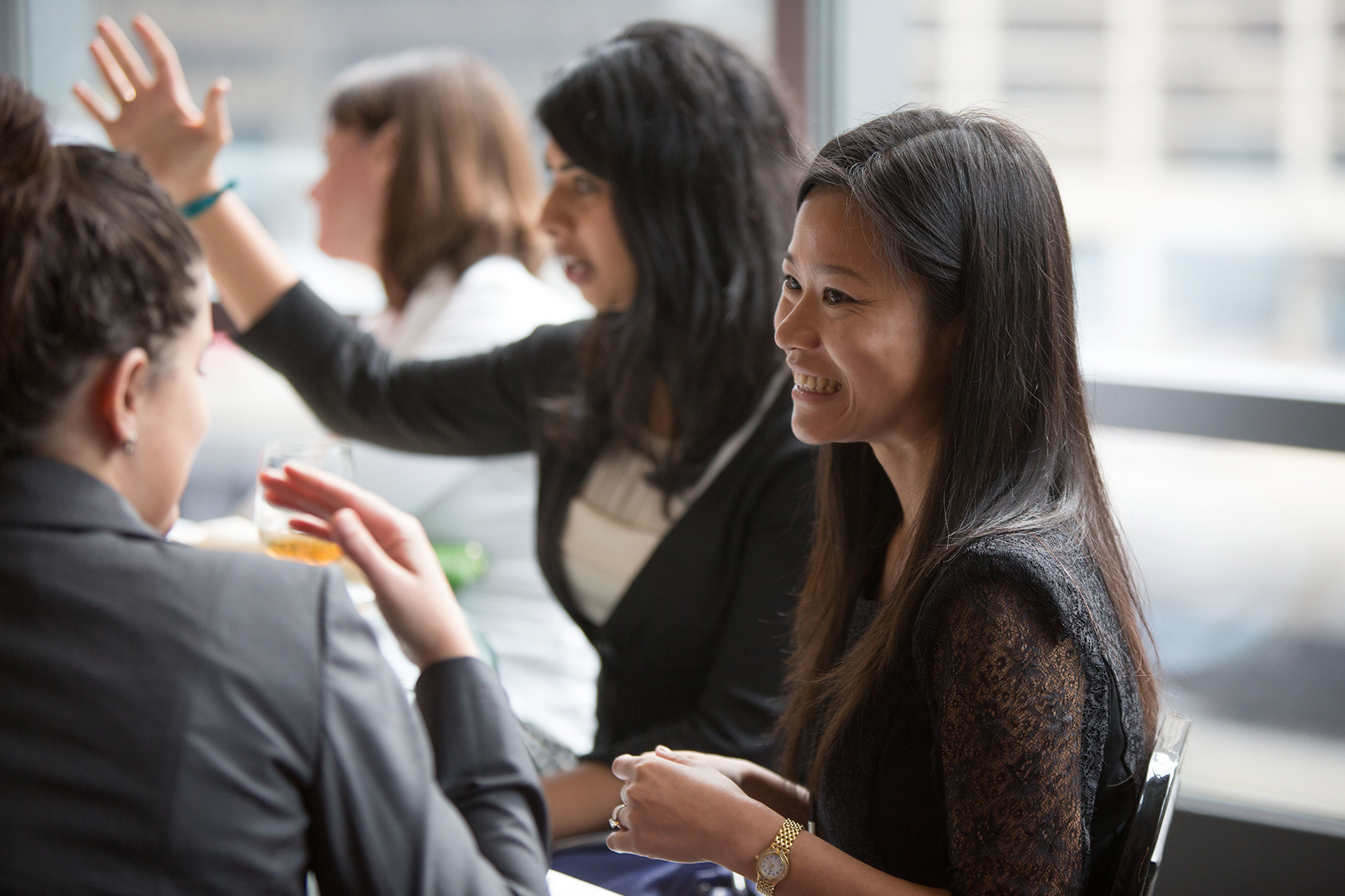 Many women took full advantage of the amazing networking opportunity the conference presented.