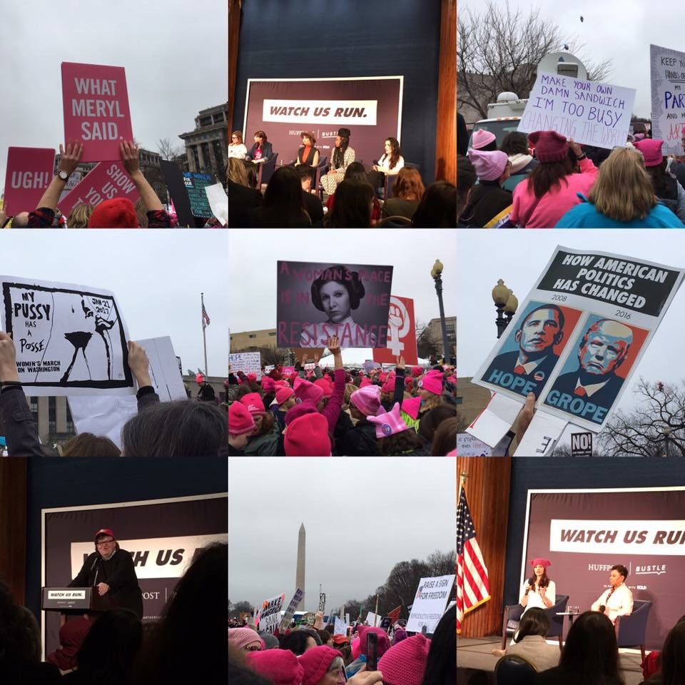 Panels and speakers including Michael Moore, addressed an audience of highly passionate and engaged crowd of both men and women during the Women's March on Washington.