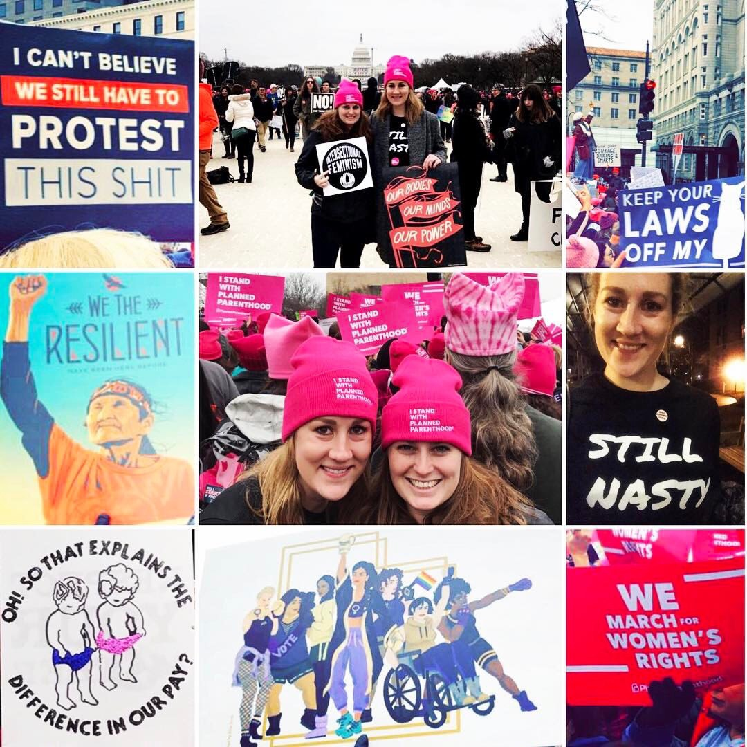 Booth 2yrs Andrea McPike and Alice Thompson went to DC to show their support for the Women's March on Washington and came back with valuable life lessons.