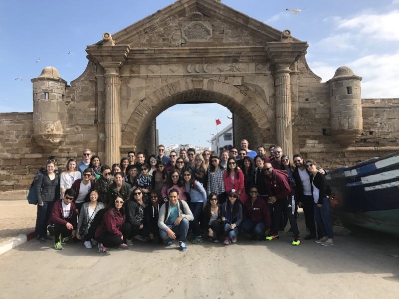 Group enjoys the sites in the seaside town of Essaouira