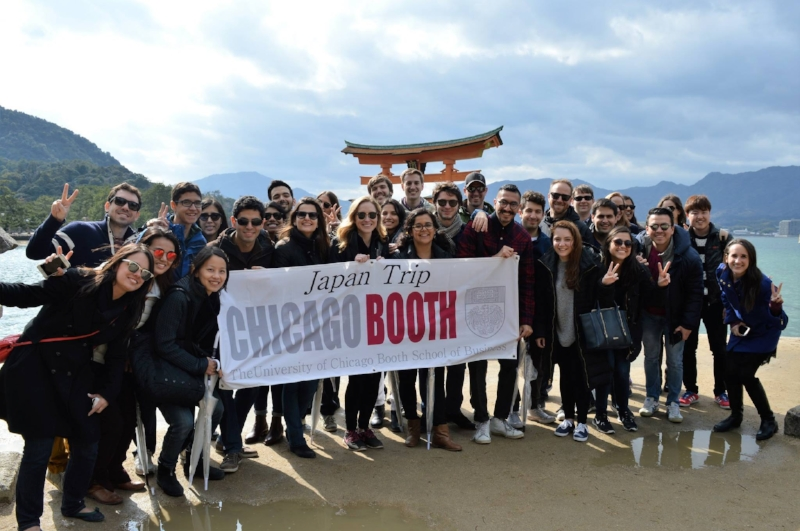 Group at the magnificent Miyajima Floating Torii.