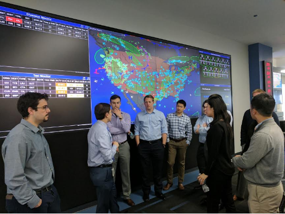 The large screen depicting United flights live sits in the middle of its Network Operations Center. Its sole purpose is to entertain visitors.