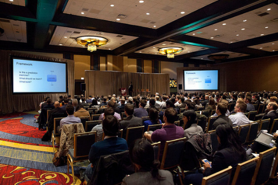 Attendees of the summit almost completely filled Marriott's large conference room