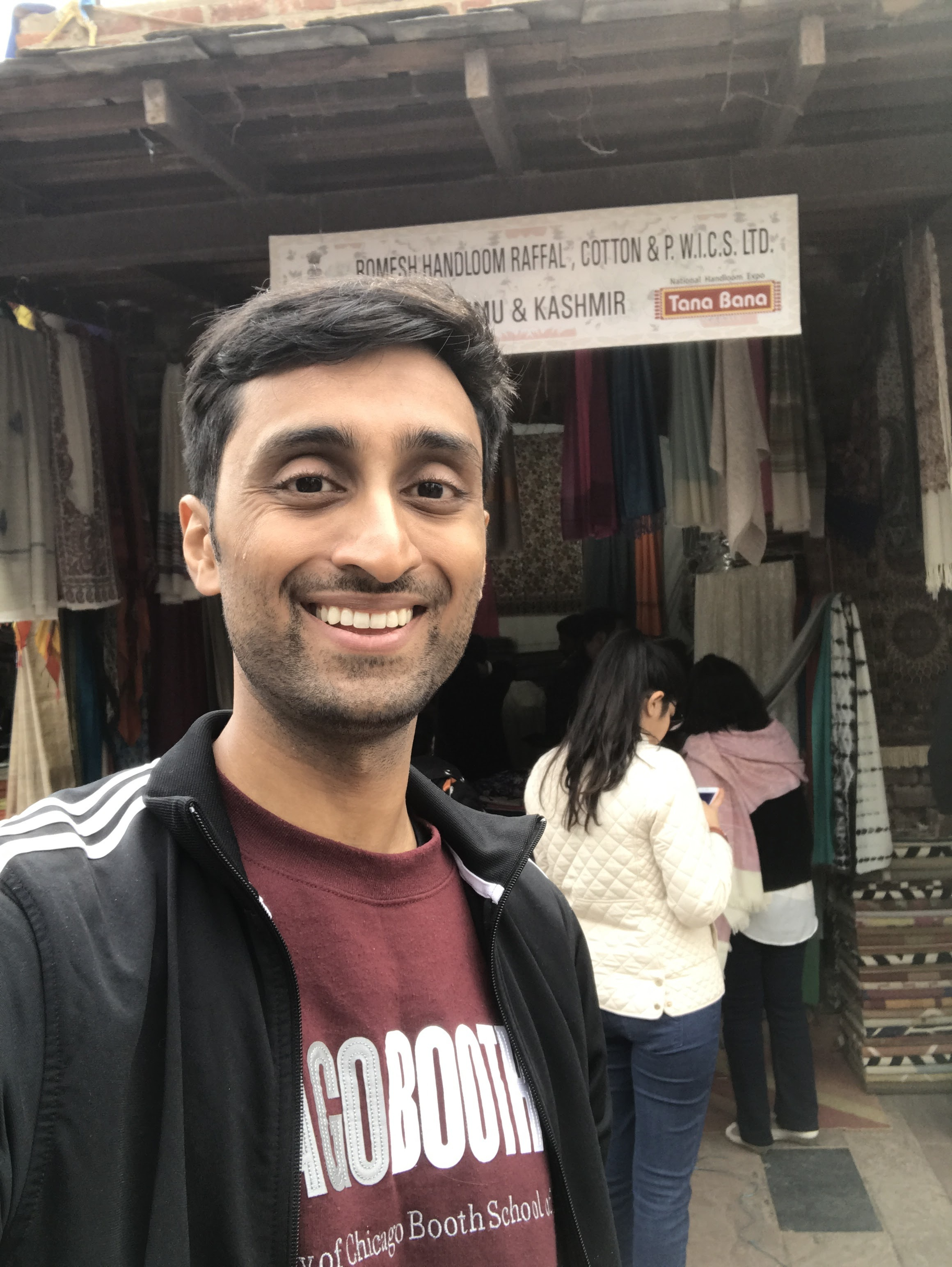 Putting his skills from Negotiations class to work, Pratik walks away with a bargain on Kashmiri shawls!