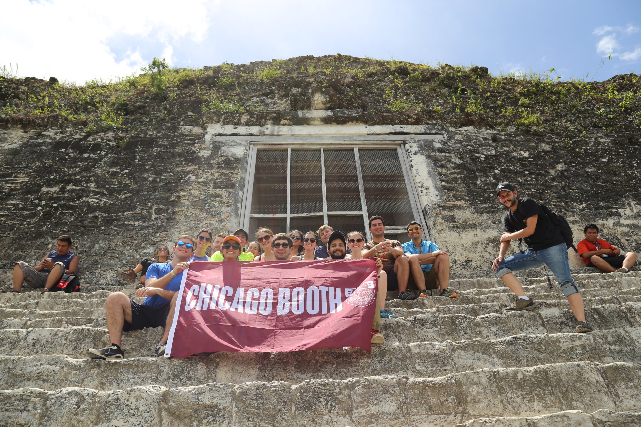 Group picture at Tikal National Park