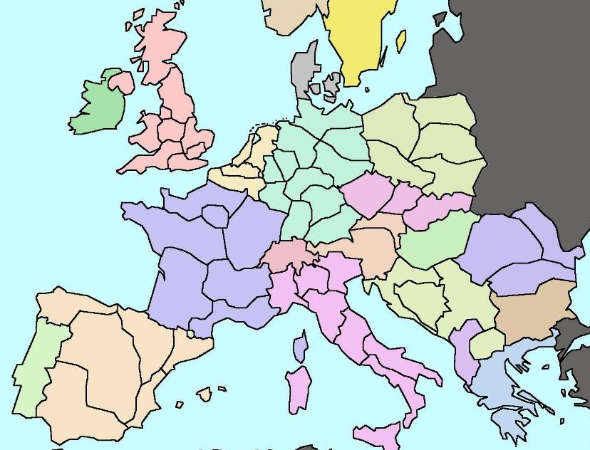 Fred Heineken's proposed redrawing of European borders.