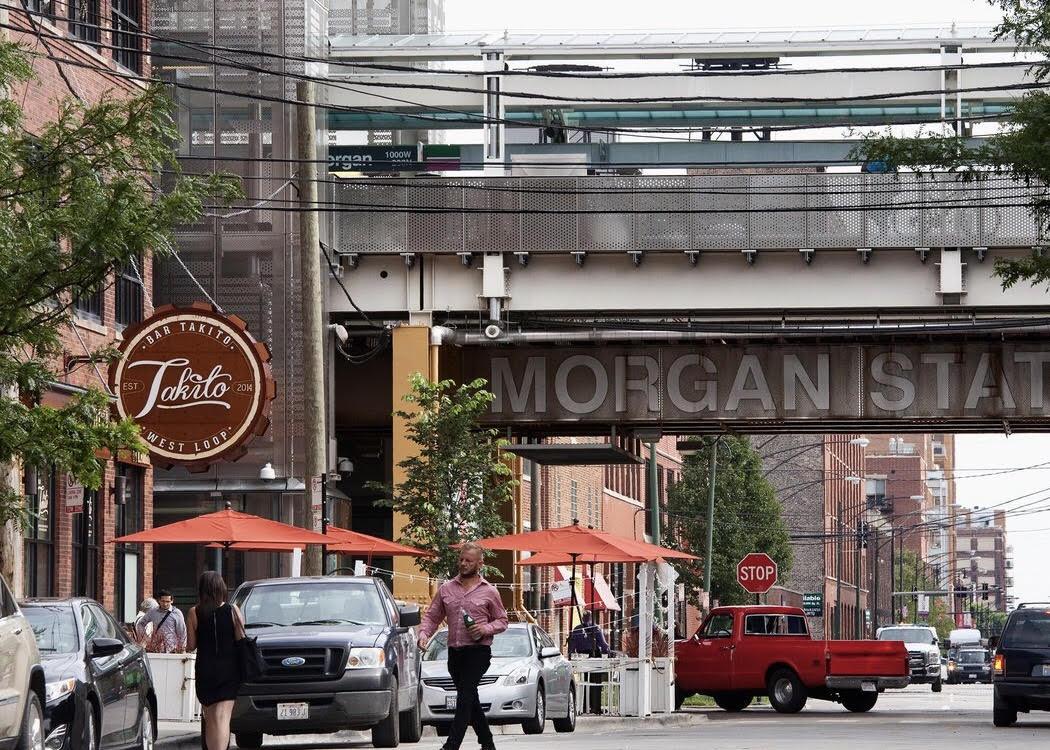The vibrant West Loop Neighborhood is always welcoming
