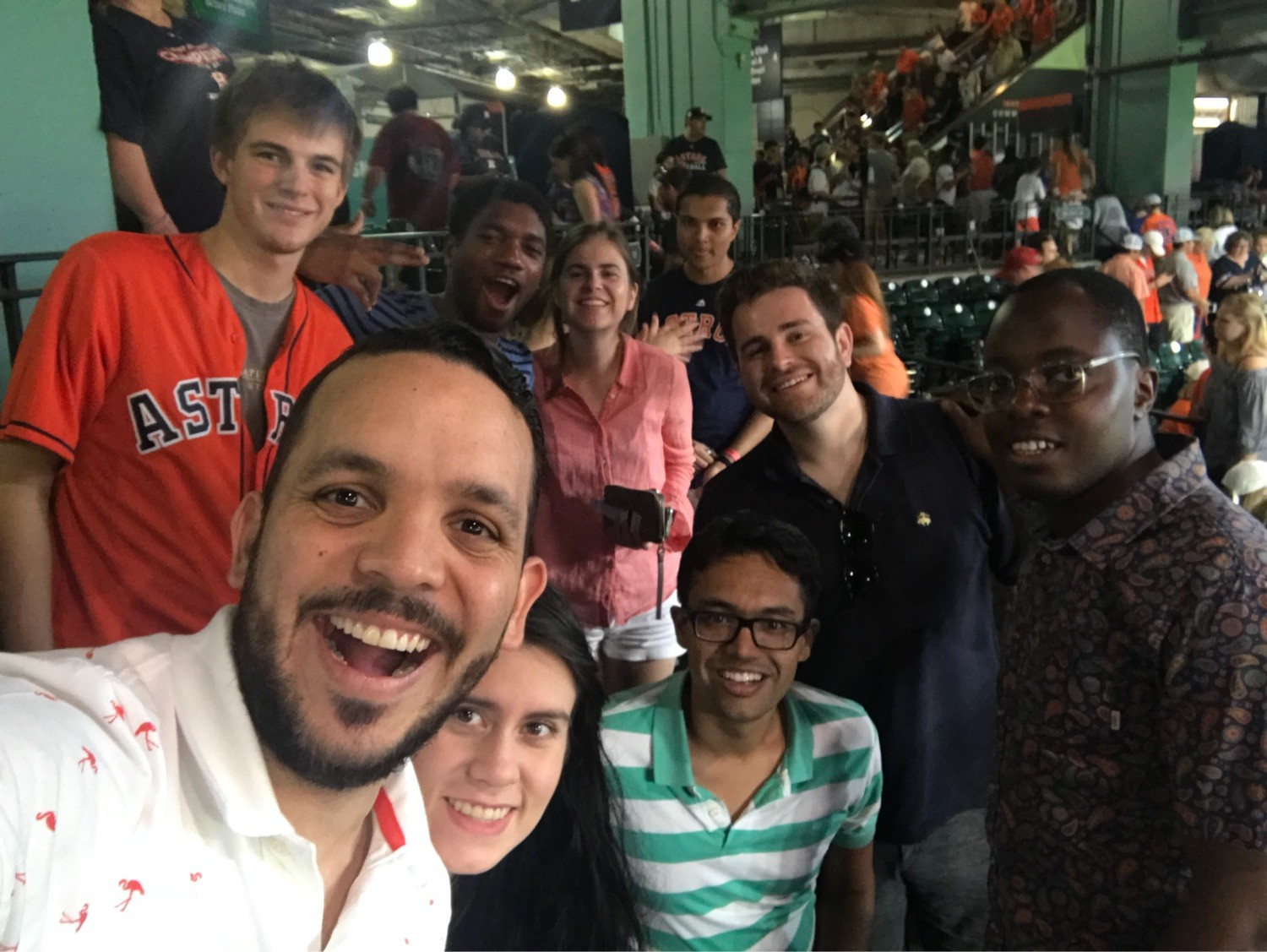 It's not every day that you get to watch the world series champs in action: at a Houston Astros game