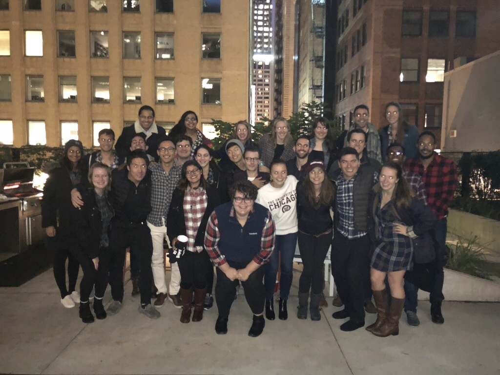 GBC Reps across 2019 and 2020 Flannel Party their way into another year of vision and impact