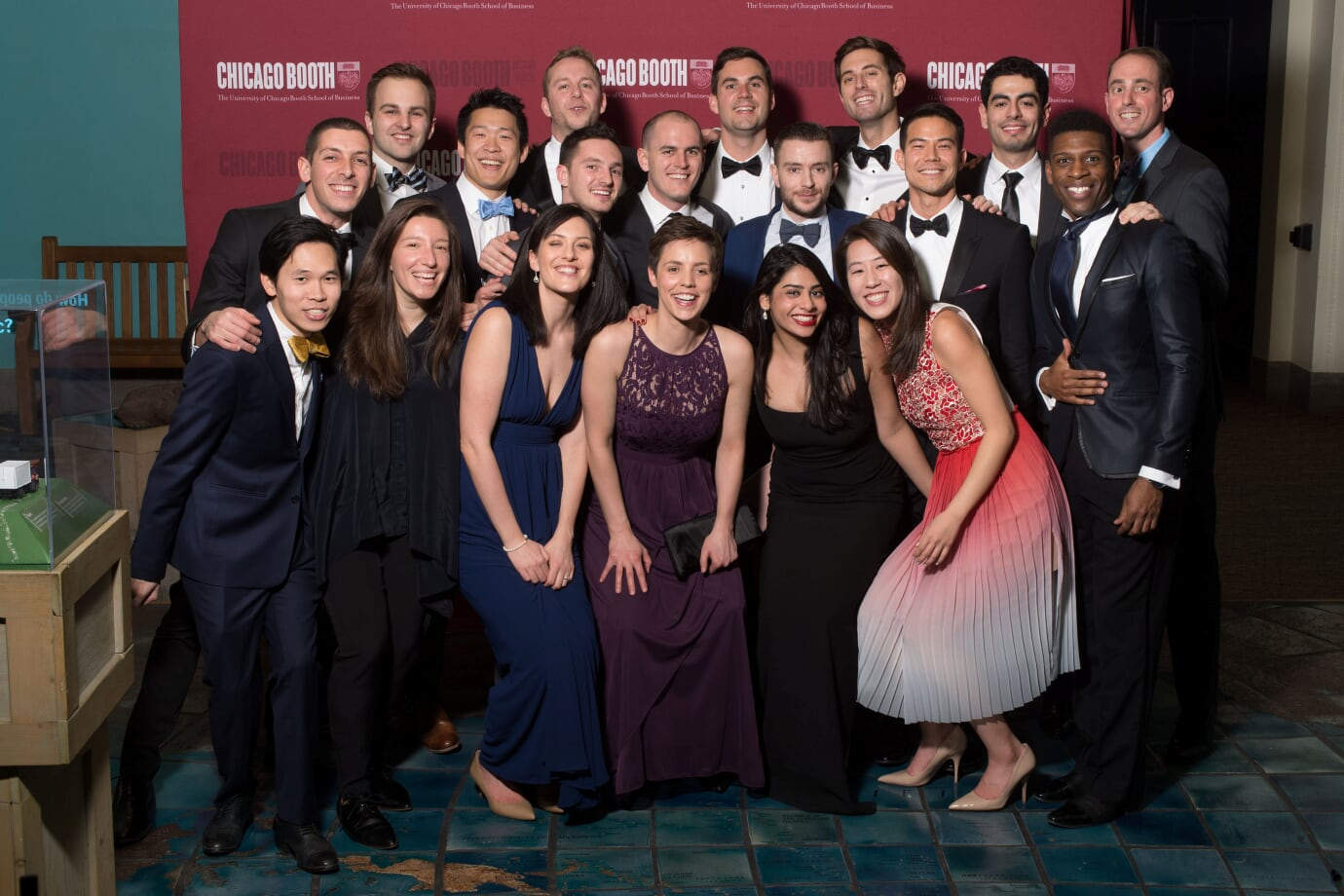 Boothies cleaned up nicely for an evening at the Field Museum of Natural History last year